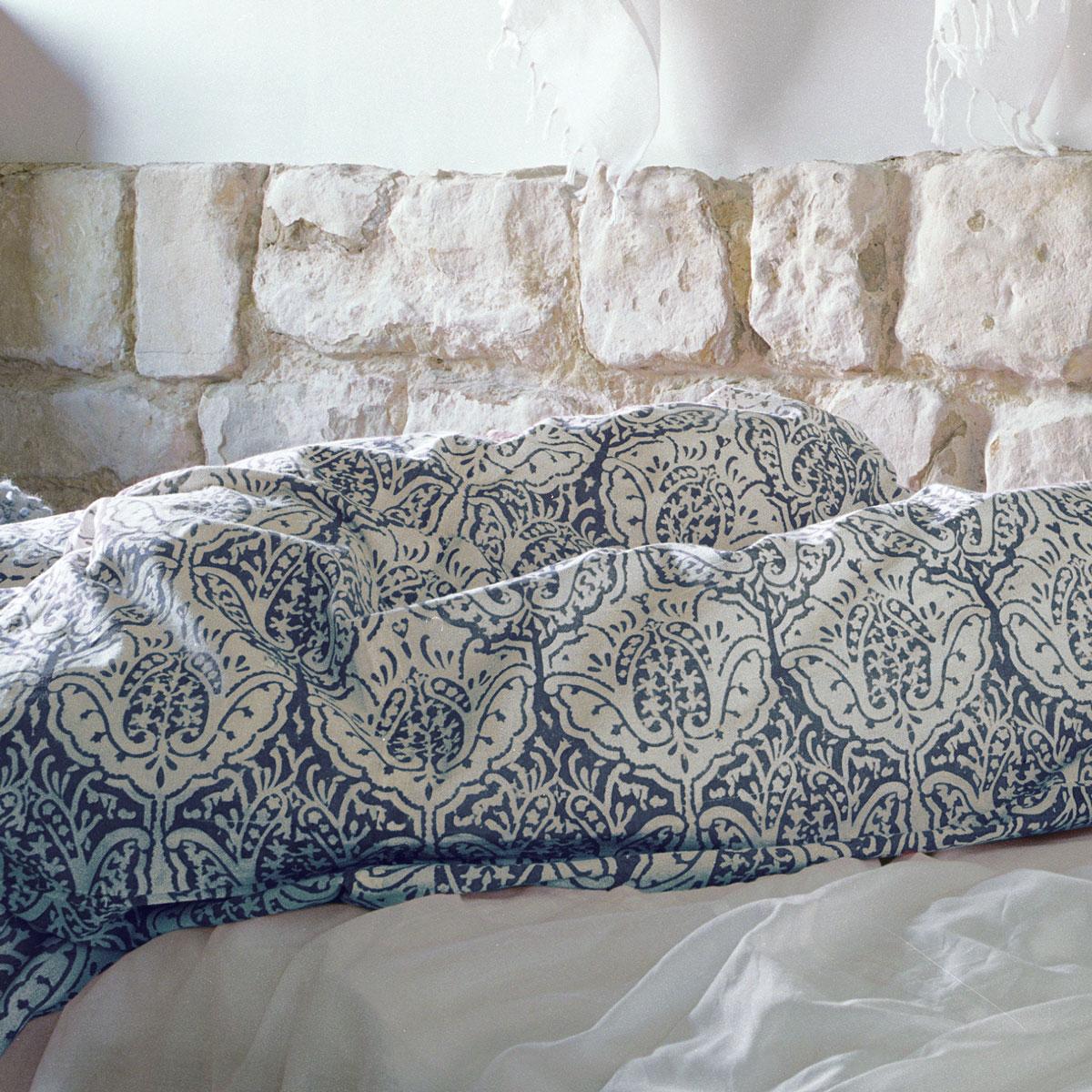 Dominique Duvet Cover In Indigo