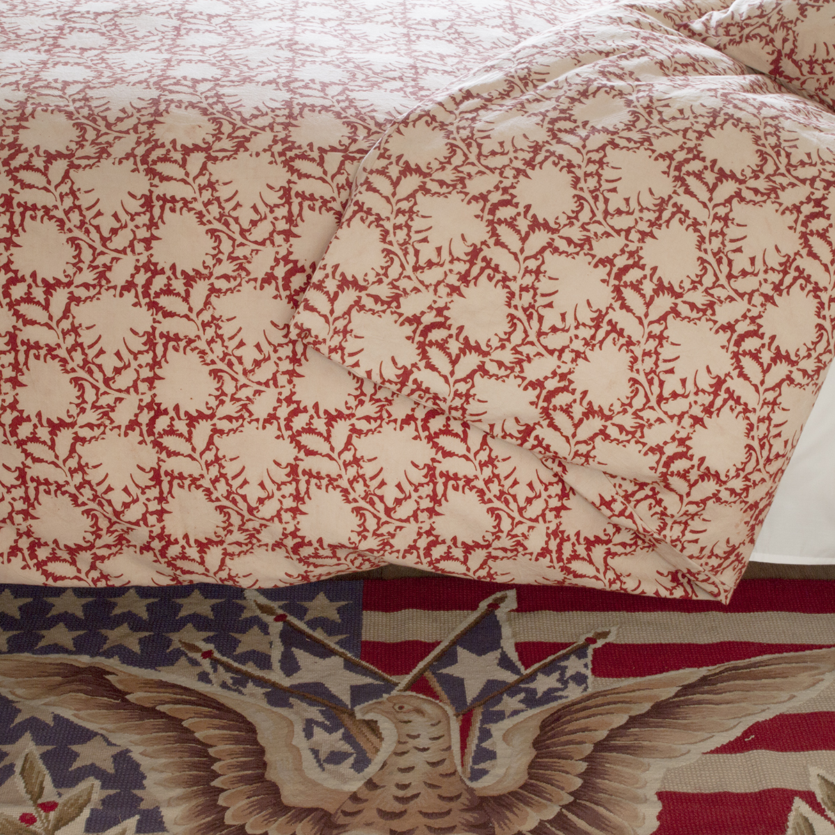 Rebecca Red Duvet Cover Les Indiennes