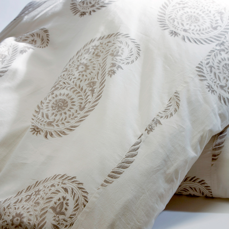 Yvette Duvet Cover In French Gray Les Indiennes