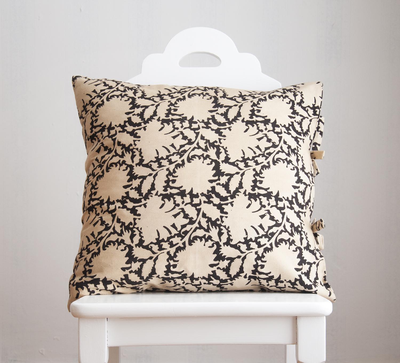 rebecca black small deco pillow les indiennes. Black Bedroom Furniture Sets. Home Design Ideas