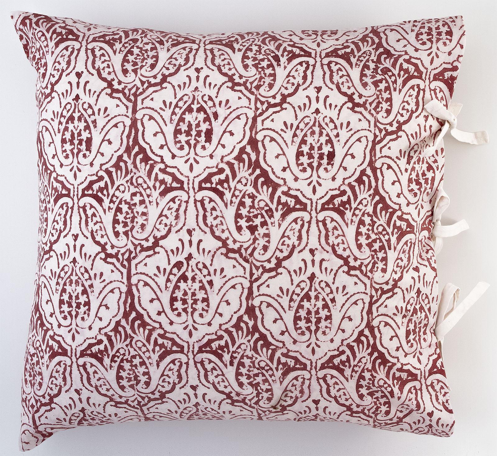 dominique deco pillow les indiennes. Black Bedroom Furniture Sets. Home Design Ideas